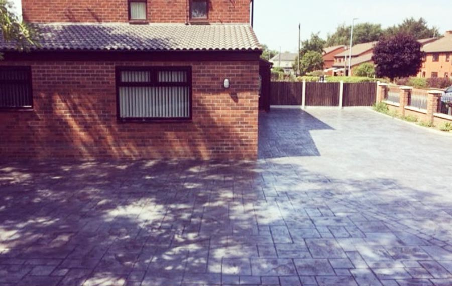 Pattern Imprinted Concrete Drives in Oldham, Chadderton, Royton